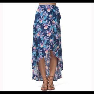 Rip Curl Hawaiian Print Wrap Skirt